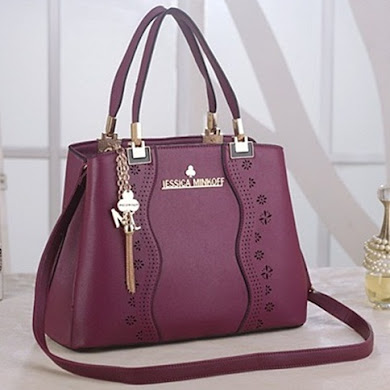 JESSICA MINKOFF DESIGNER BAG - PURPLE
