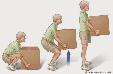 angkat kotak dengan cara yang betul