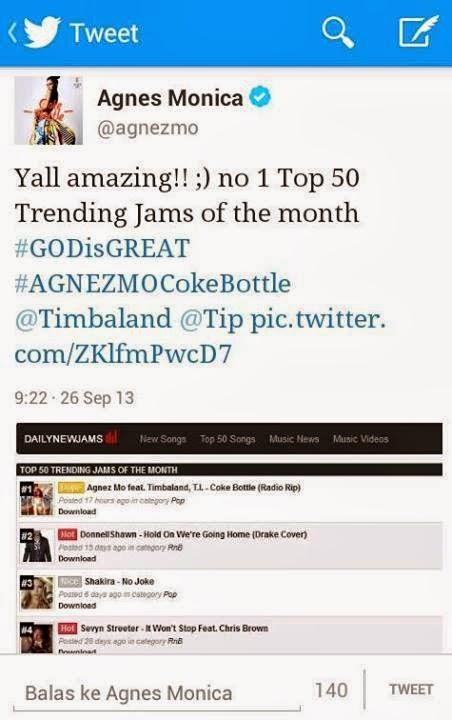 lagu+ilegal Miris! Single Internasional Agnes Monica 'Coke Bottle