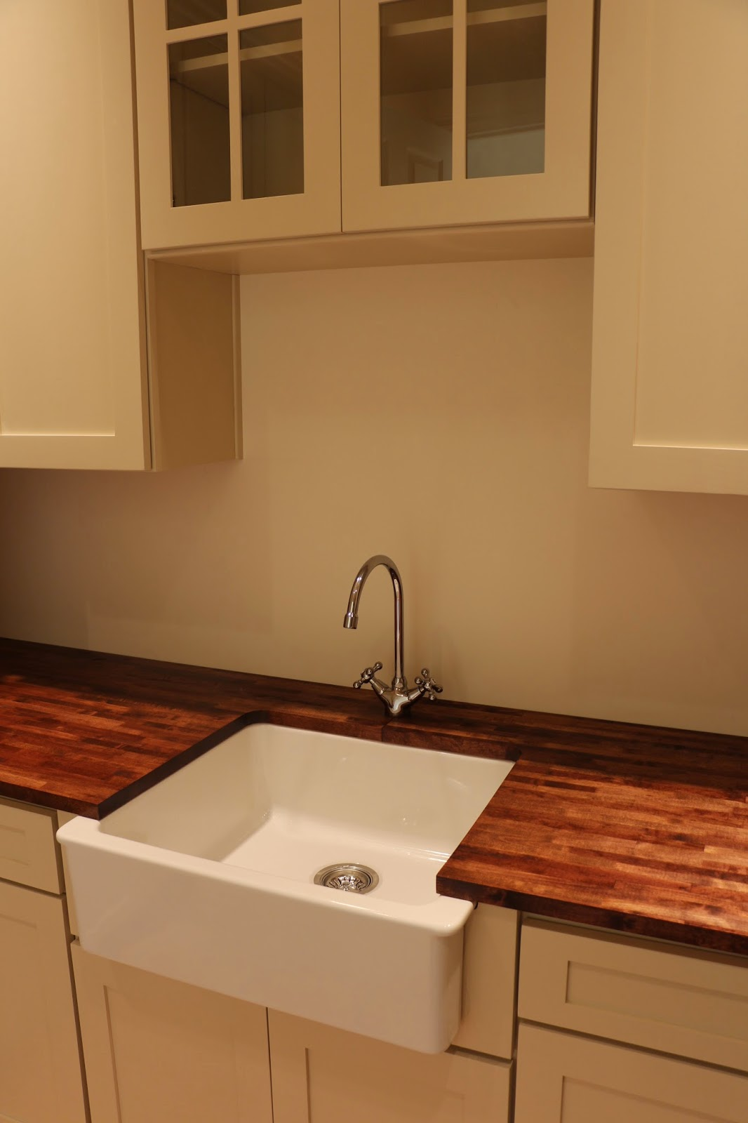 domsjo sink, farmhouse sink, wood countertops, varde countertops, ikea wood countertops