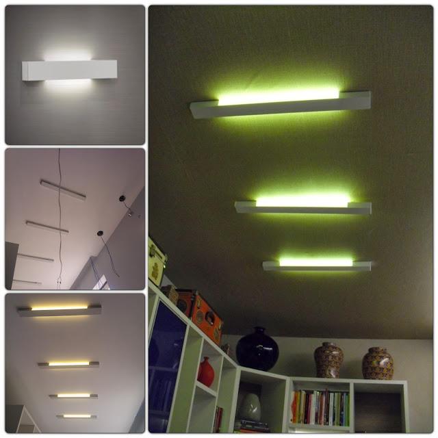 arandelas com lâmpadas LED - sala de leitura Senac - Santos Arquidecor 2013