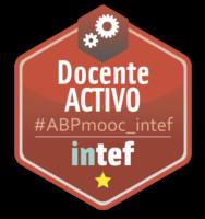 """Emblema Inteef """"Docente Activo"""""""