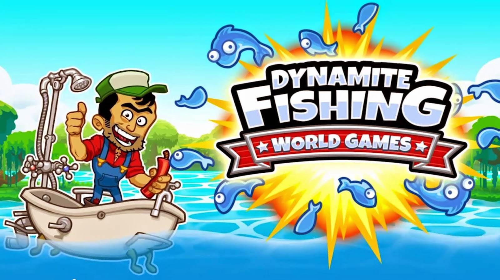 Dynamite fishing world games gameplay android proapk for Fish world games