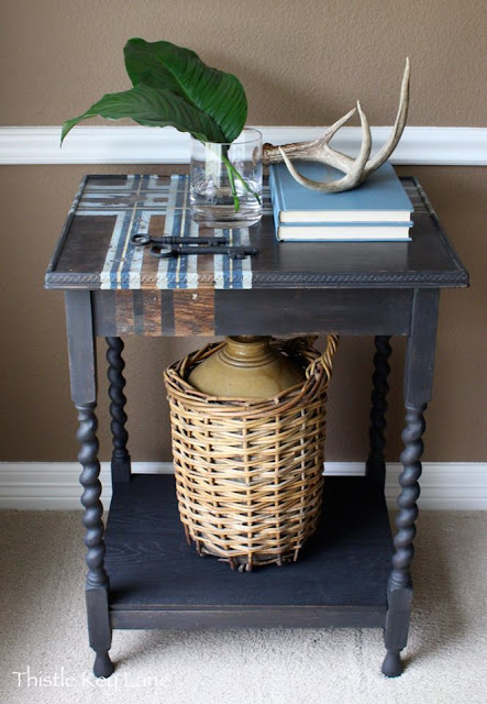 spindle legs, side table, diy, refinished table, jenny lind, fridaysfurniturefix, Friday's Furniture Fix, furniture link up party