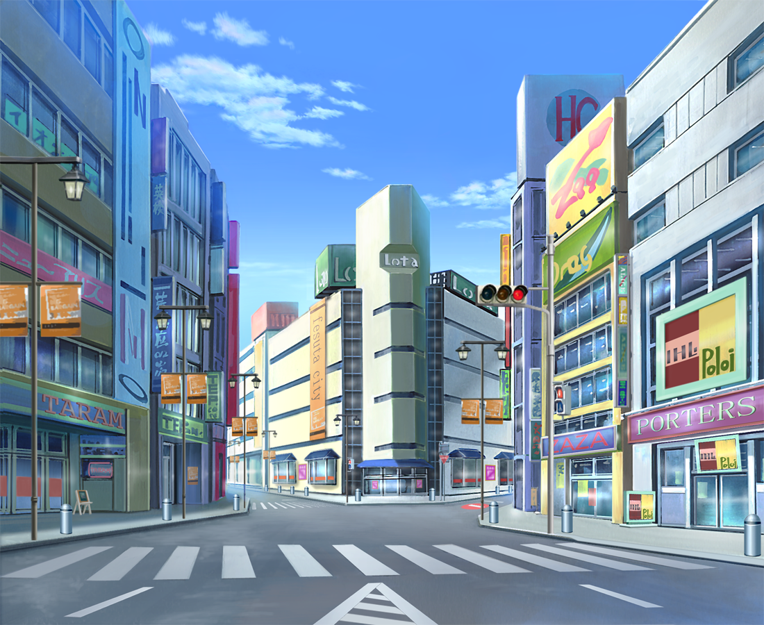 city anime landscape