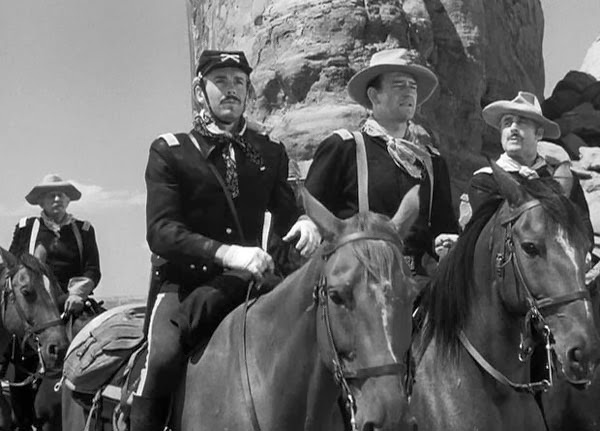 Henry Fonda and John Wayne in Fort Apache