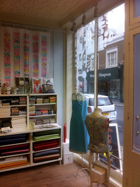 Interior and window of the Sewing Space