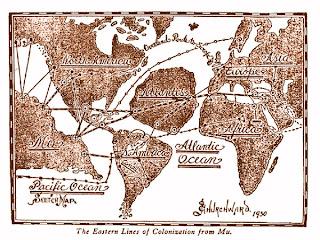 Mapa Atlantida - Mu