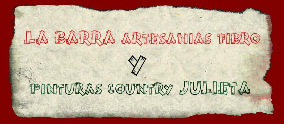 LA BARRA artesanias fibro & JULIETA pinturas country