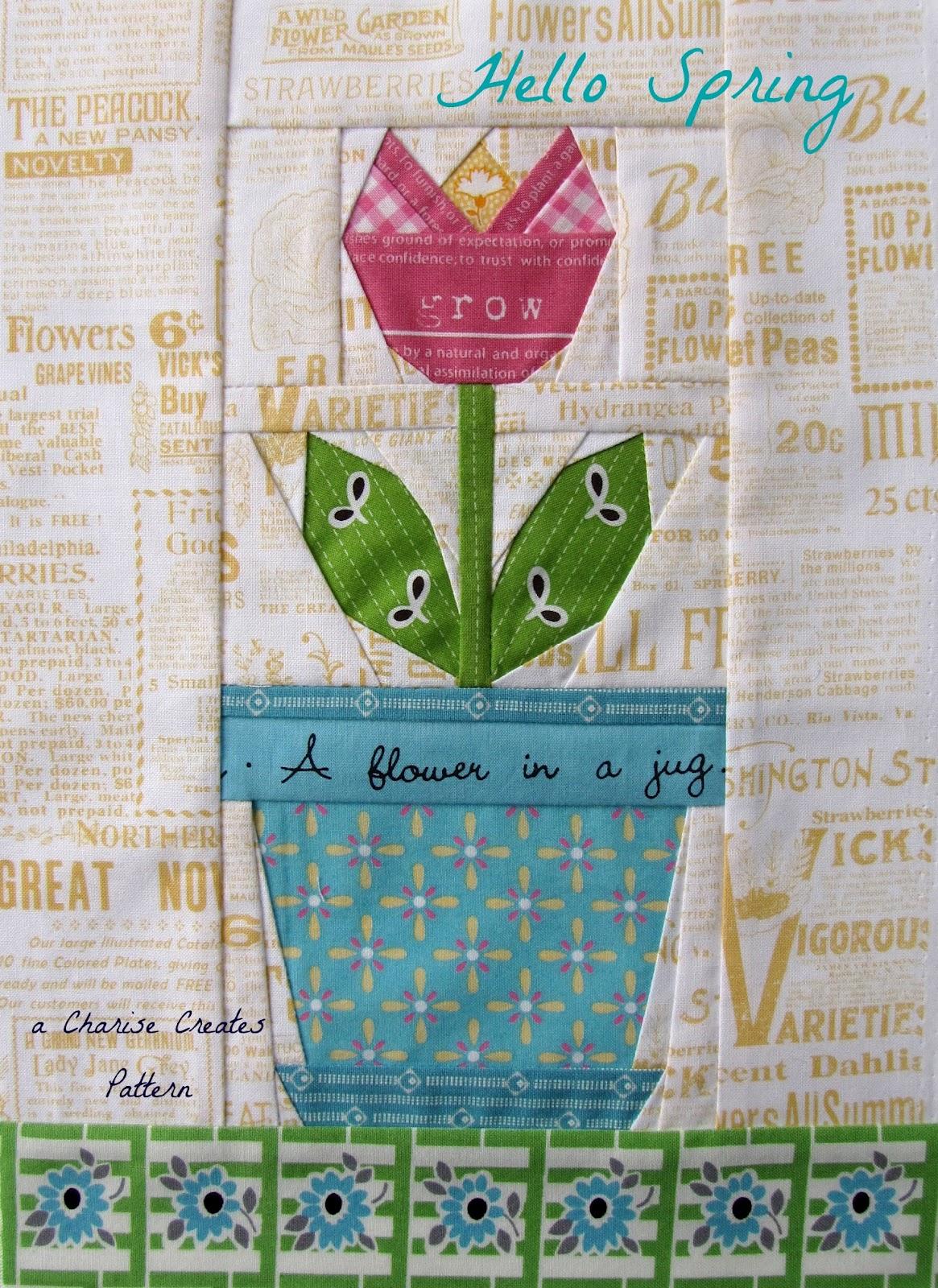 Charise Creates Hello Spring Tulip Amp Tote Bag