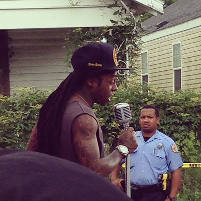 fotos de lil wayne grabando el video de god bless amerika nueva orleans i am not a human being