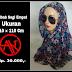 Jilbab segi empat motif polkadot