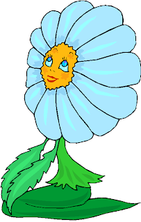 Fantasy Blue Flowers Free Clipart