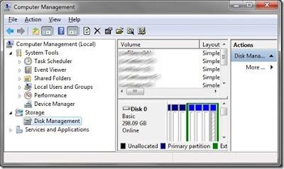 windows 7, partição, criar, excluir, gerenciar
