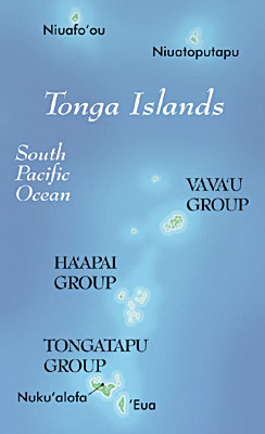 Map of Tonga