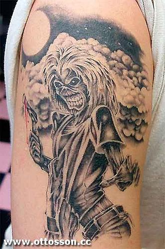 iron maiden tattoo lizard tattoo