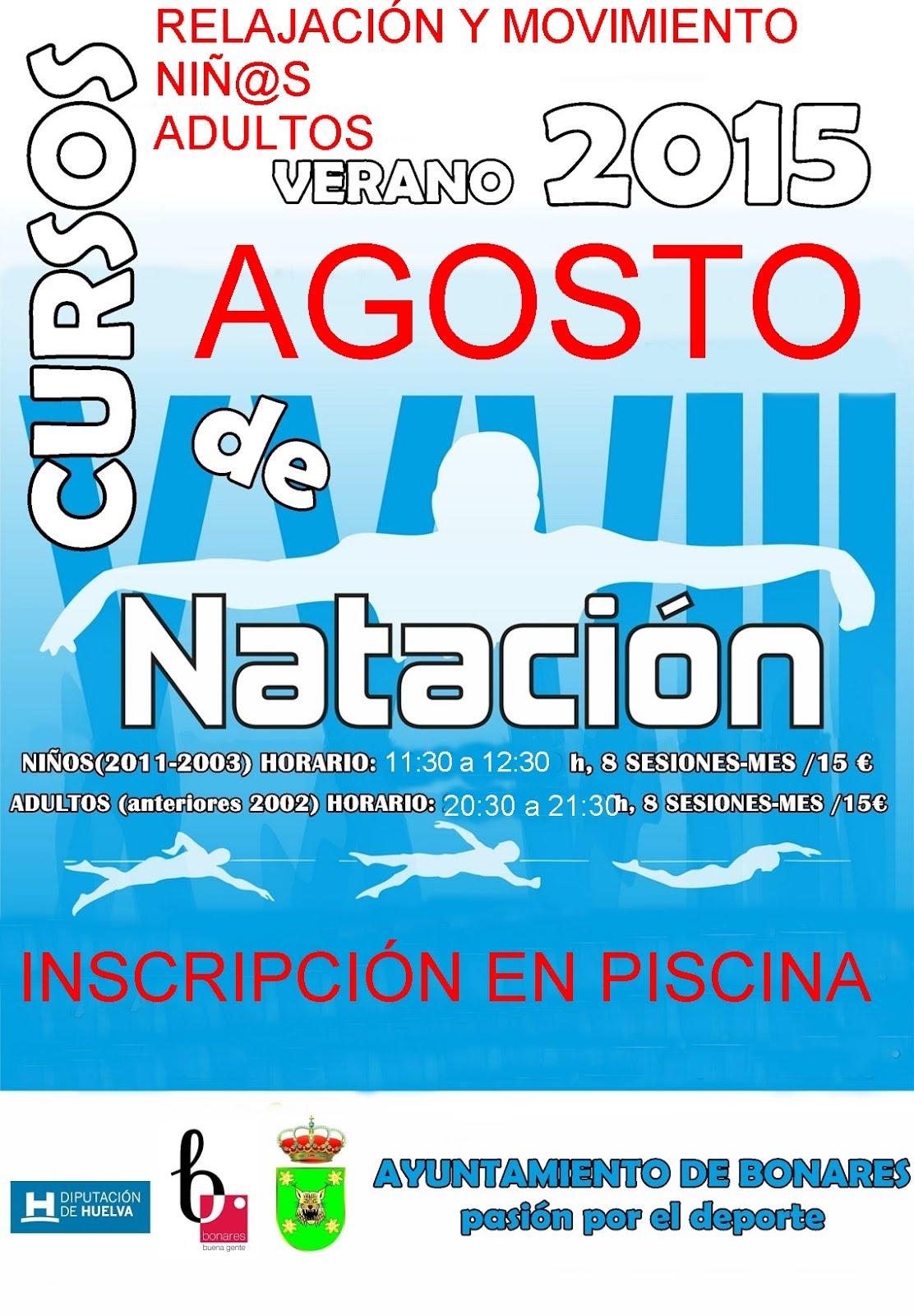 CURSOS NATACIÓN AGOSTO 2015