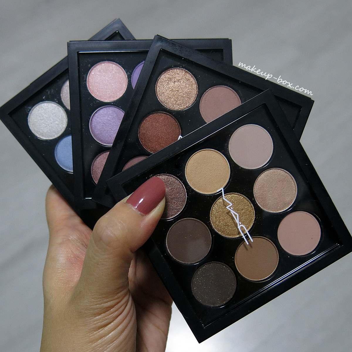 the makeup box mac eyeshadow times nine palette swatches. Black Bedroom Furniture Sets. Home Design Ideas