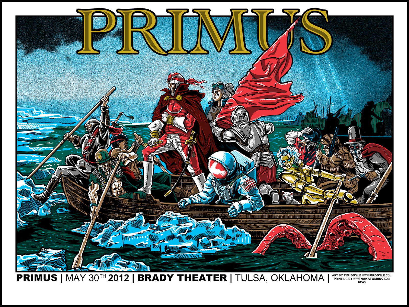 inside the rock poster frame blog primus tulsa poster by