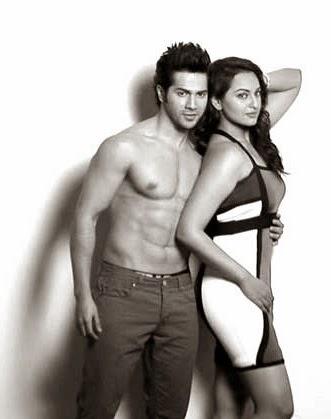 "Varun Dhawan and Sonakshi Sinha hottest pics sex scenes varun dhawan flaunting his six pack Abs in ""Main tera Hero"" Movie"