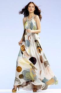 vestido longo colorido - fotos e modelos