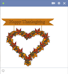 Thanksgiving heart emoticon for Facebook