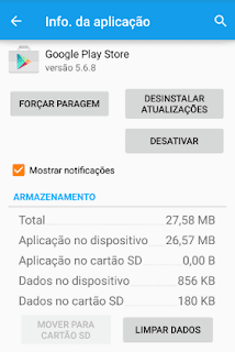 erro 923 no Android