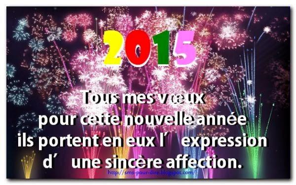 SMS Bonne année 2015
