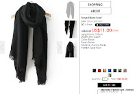 Frayed Black Scarf SKU:RSCA150914201 ROMWE