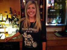 Callie Sports Pearl Street Pub Shirt While at Pete's