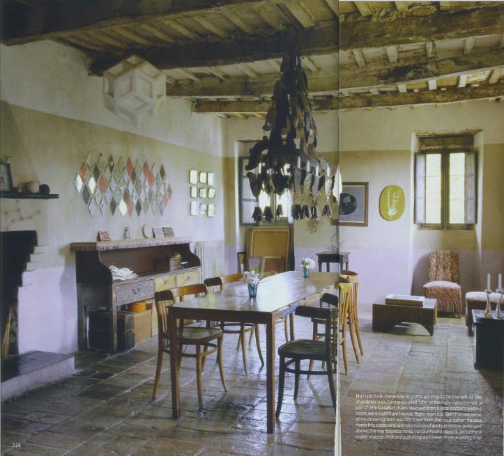interior divine a 17th century Italian farmhouse