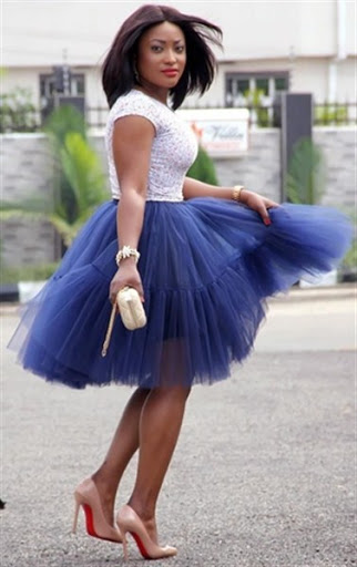 blue tulle ballet skirt