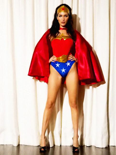 Fashion Model, @ Bella Hadid - As Wonder Woman in 2015's LOVE Magazine Advent Calendar