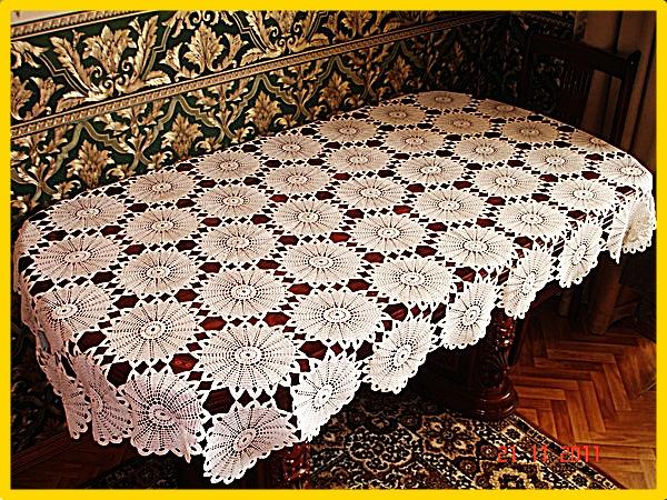 Manteles tejidos patrones - Imagui