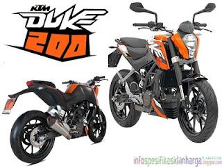 Harga KTM Duke 200 Motor Terbaru 2012