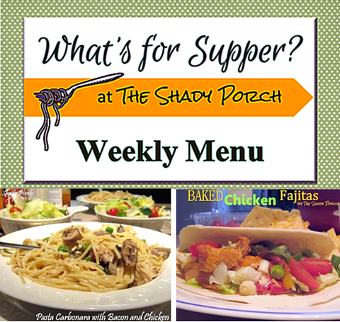 What's For Supper: Menu November 17, 2014