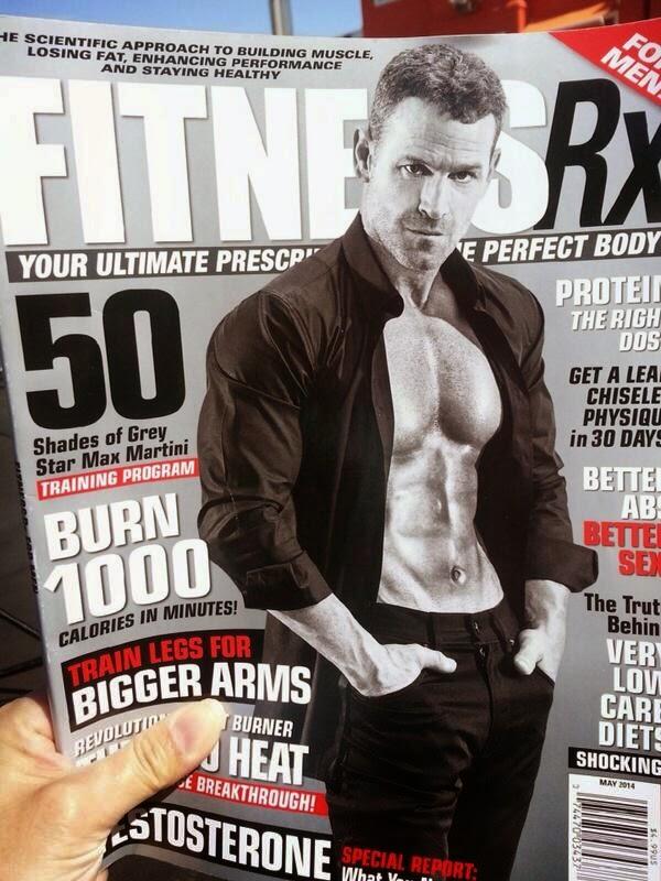 Scan: Max Martini en FitnessRx Magazine de Abril
