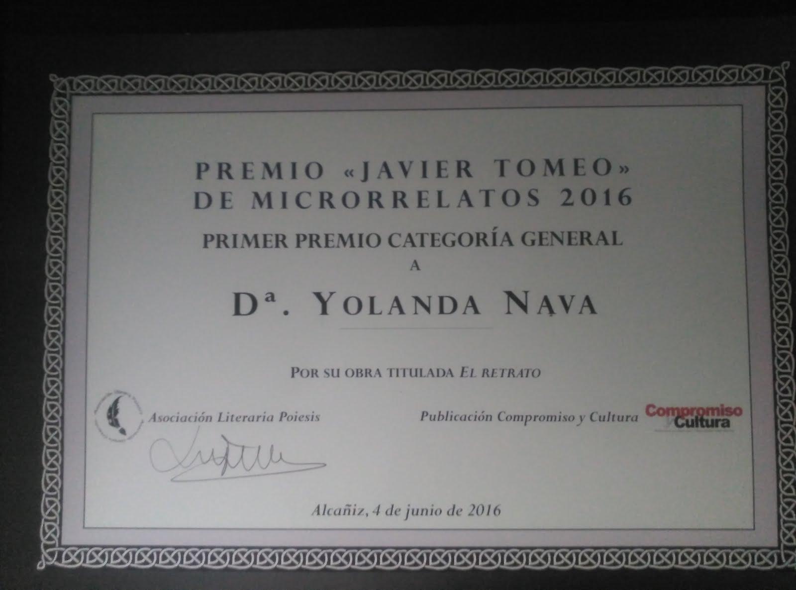 EL RETRATO ganador II concurso de microrrelatos Javier Tomeo, categoría general.