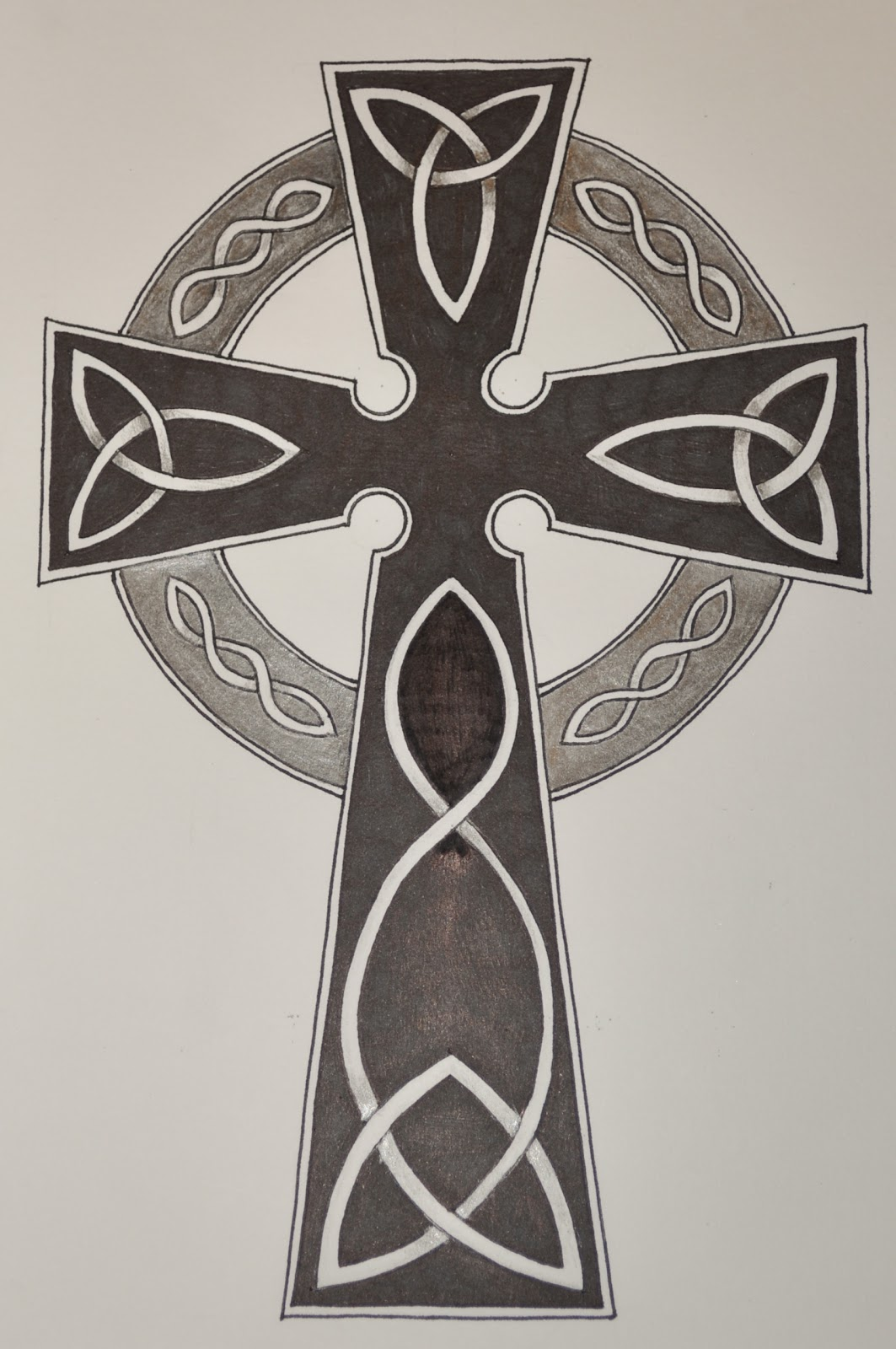 Summertime ink celtic cross tattoo for Pics of celtic cross tattoos