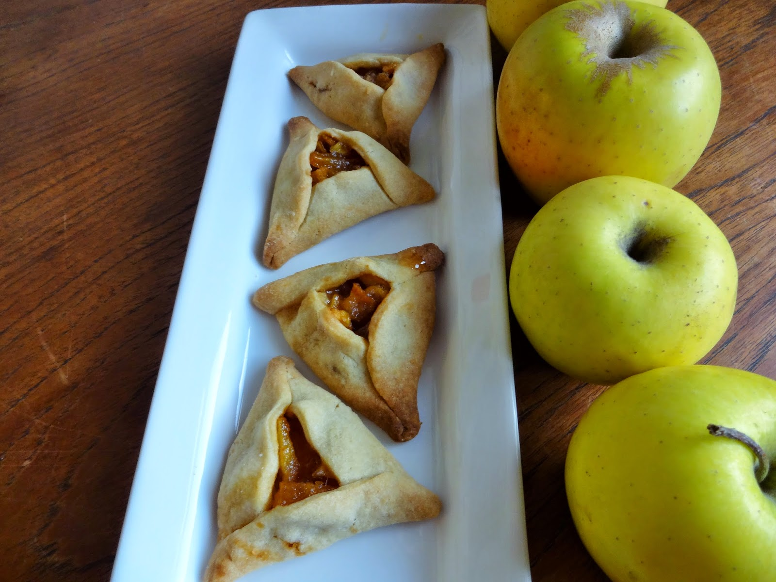 here are caramel apple hamantaschen a classic dough filled with sweet ...