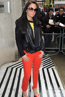 Tulisa Contostavlos In Red Jeans
