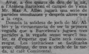 Recorte de La Veu de Catalunya, 29 de agosto de 1910