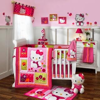 Desain Cantik Kamar Anak Perempuan Nuansa Hello Kitty