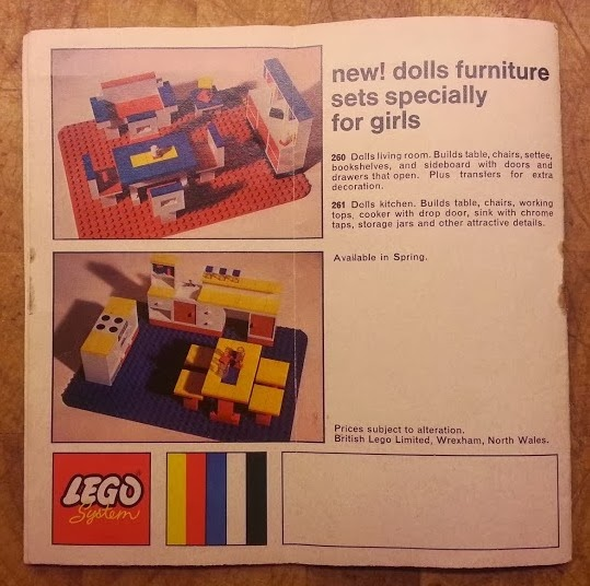 Original Girl Lego 1970's Kitchen Dining Room Table Cupboards