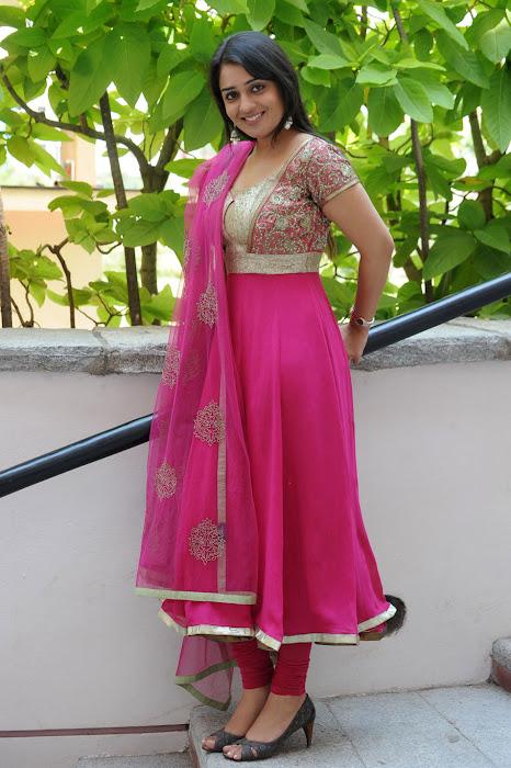 Cute Nikitha in Pink Churidar, Latest Churidar Styles for indian girls