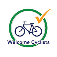 Welcome Cyclists Sign