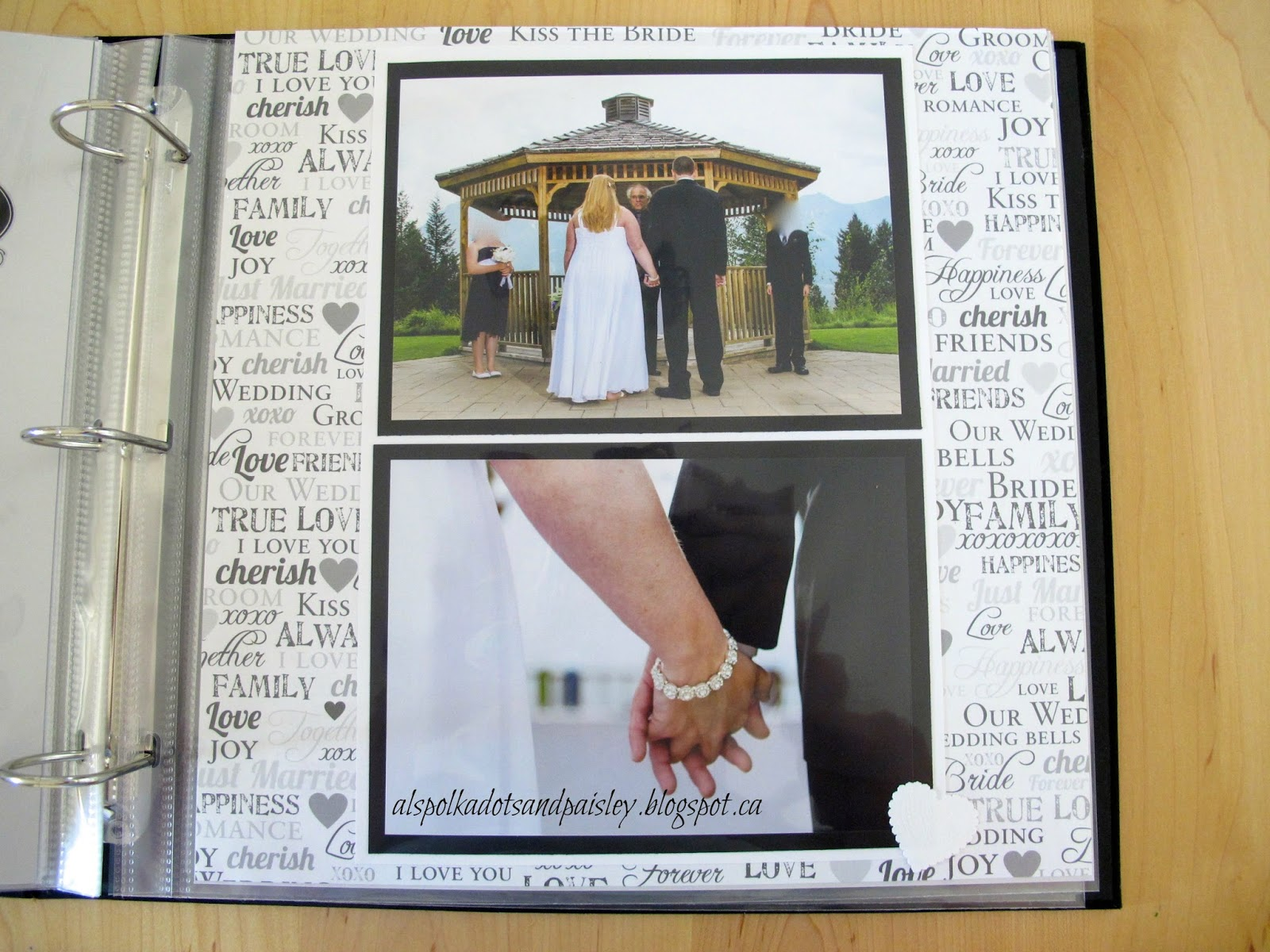 wedding scrapbook part 2 wedding scrapbook I wanted the scrapbook to reflect our style and the simple elegance of our wedding which I think it does I m really excited about the finished product