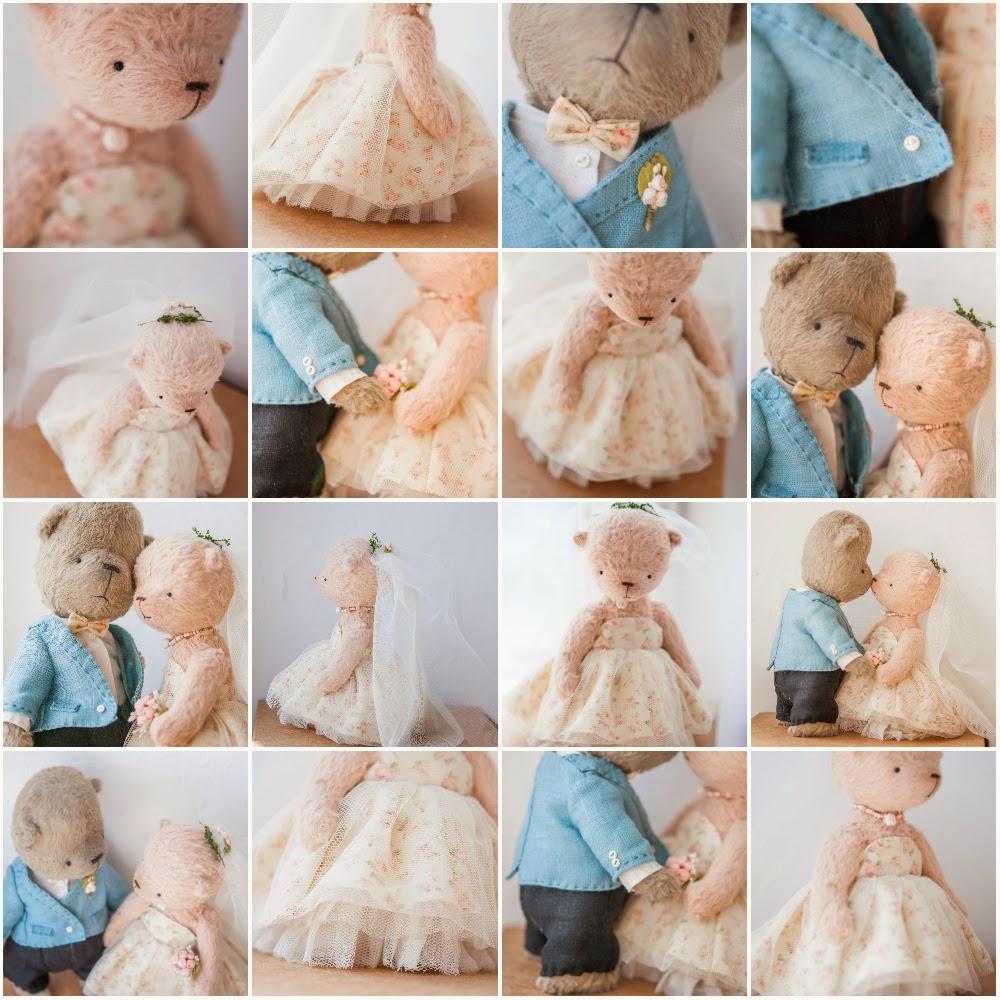 мишки тедди, свадебные мишки тедди, мишка тедди, мишка в подарок, подарок, ручная работа