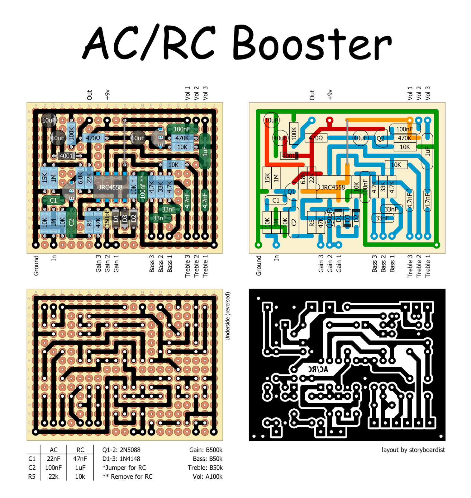 Rc Booster Pedal Schematic Block And Diagrams Car Wiring Perf Pcb Effects Layouts Xotic Ac Rh Effectslayouts Blogspot Com 6 Ch Plane Diagram Radio Control Schematics