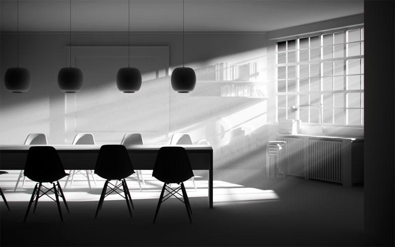 luce volumetrica con Cinema4D e Vray
